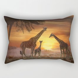 Golden Sunset Rectangular Pillow