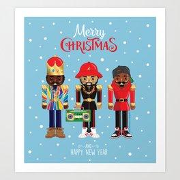 Urban Christmas Nutcracker Art Print