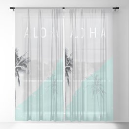 Island vibes retro - Aloha Sheer Curtain