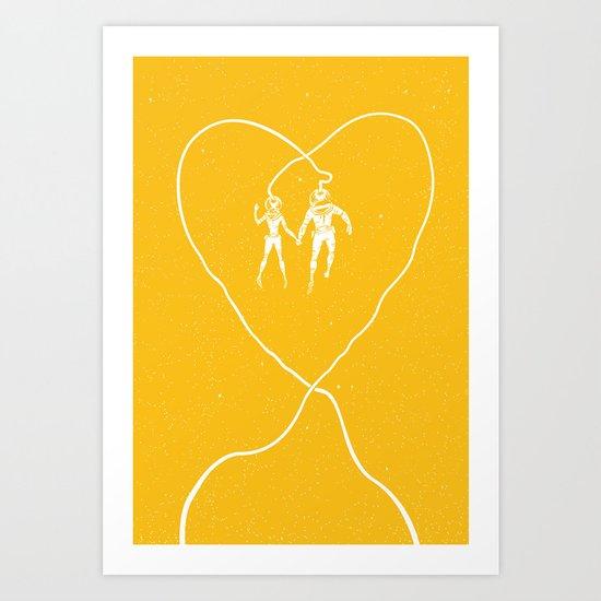 Love Space, Yellow Art Print