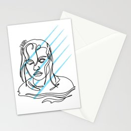 the girl in the river Stationery Cards