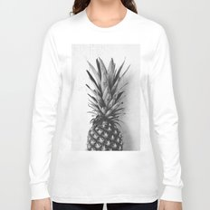 Black and white pineapple Long Sleeve T-shirt