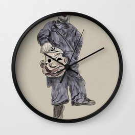 """Contorted """"Happiness"""" Clown  - 711. Wall Clock"""
