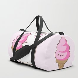 Ice cream lover chubby cat Duffle Bag