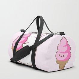Ice cream lover chubby cat Duffle Bag