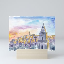 Matera Basilicata Italy Sassi Sunset Mini Art Print