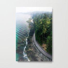 The Vancouver Seawall Metal Print