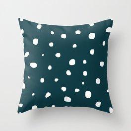 Steely Night Throw Pillow