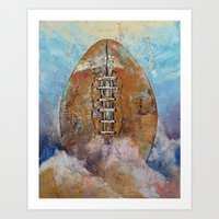football Art Prints featuring Football by Michael Creese
