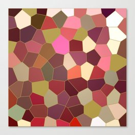 Red and Gold Festive Dazzle Stained Glass Abstract Canvas Print