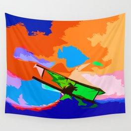 Biplane Aerobatics Wall Tapestry