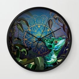 Basilisk Lizard Wall Clock