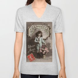 The Boy in the Sailor Suit Unisex V-Neck