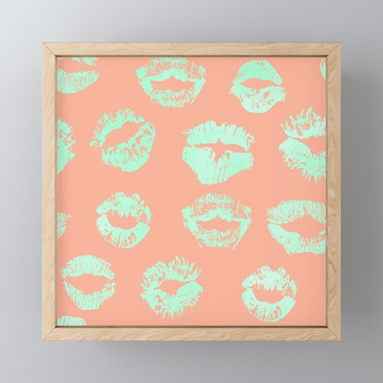 Sweet Life Lips Peach Coral + Mint Meringue by followmeinstead