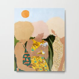 Nature Lovers #illustration #painting Metal Print