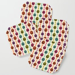 Peace Signs Hippie Beaded Curtain Coaster