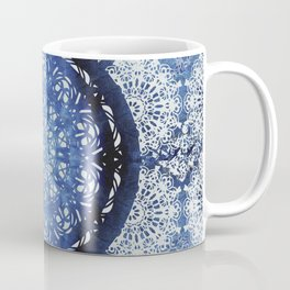 Boho Brocade Blue Mandalas Coffee Mug