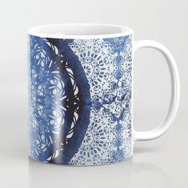 Boho Brocade Blue Mandalas Coffee Mug