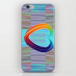 Fractal Art- Pattern Art- Heart Art- Blue Hearts-Pixxie Stixx- LGBT Art- Love- Healing Energy Art iPhone Skin