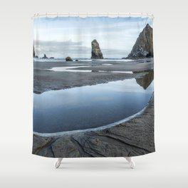 Haystack and the Needles Shower Curtain
