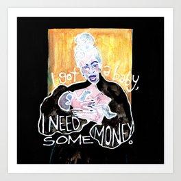 CARDI B - MONEY Art Print