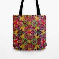 escher Tote Bags featuring Escher Tile by RingWaveArt