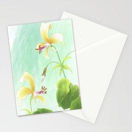 pelargonium mollicomum- pineapple scented leaf Stationery Cards