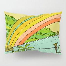 Surf Paradise Rainbow of Happiness Pillow Sham