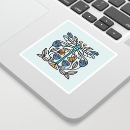 Dragonfly tile Sticker