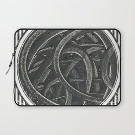 Junction - line/circle graphic Laptop Sleeve
