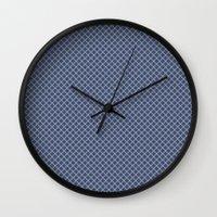 jenny liz rome Wall Clocks featuring Liz by Amanda Merlin