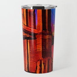 Colorful Artwork City Art Painting On Canvas Travel Mug