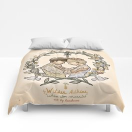 """Illustration from the video of the song by Wilder Adkins, """"When I'm Married"""" Comforters"""