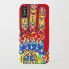 A really colourful hand iPhone X Slim Case