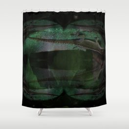 Larry The Lounge Lizard: Flashback v.2 Shower Curtain