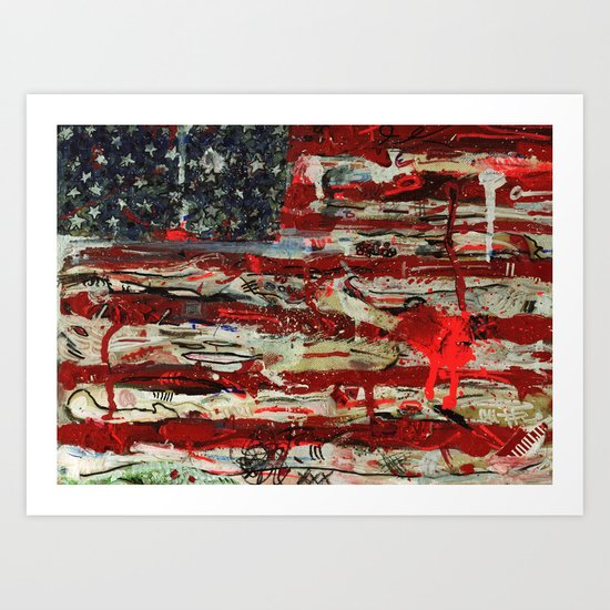 One Stripe For Good Luck Art Print