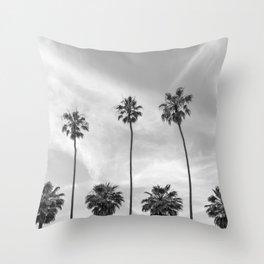 Palm Trees in La Jolla, California Throw Pillow