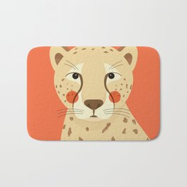Cheetah, Animal Portrait Bath Mat