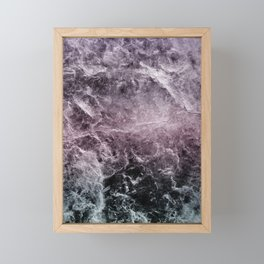 Enigmatic Dark Night Marble #1 #decor #art #society6 Framed Mini Art Print