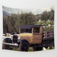 truck Wall Tapestries featuring Tulip Truck by Manda's Photography