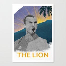 Zlatan The Lion Canvas Print