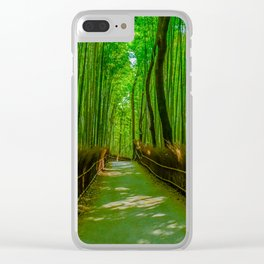 Bamboo Trail Clear iPhone Case