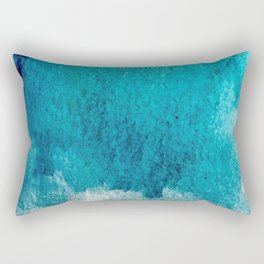 Rest: a minimal, blue abstract piece Rectangular Pillow