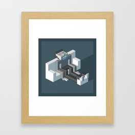Couch slouch pixel artwork Framed Art Print