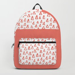 Triangles Coral Red Backpack