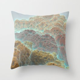 Coral Mountains Throw Pillow