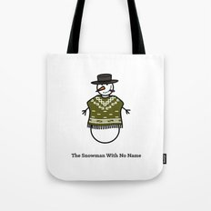 The Snowman With No Name Tote Bag