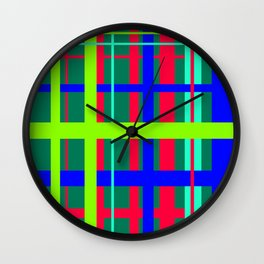 Tropical Plaid Wall Clock