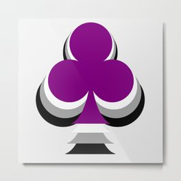 Ace of Clubs Metal Print