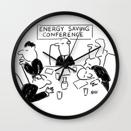 Energy Saving Conference Wall Clock